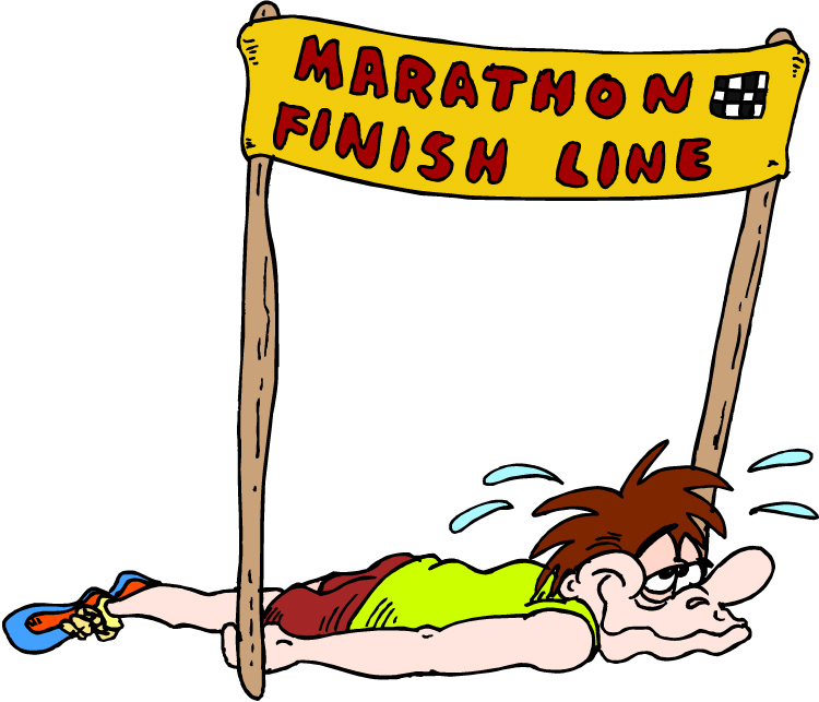 Collapsing at the Finish Line in June